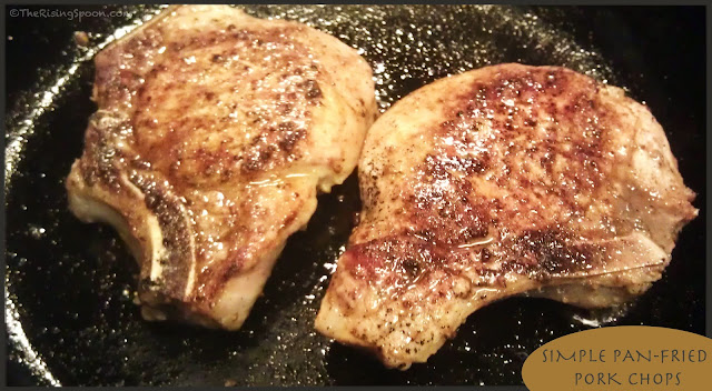Quick & Simple Pan Fried Pork Chops | www.therisingspoon.com