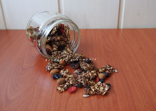 Granola z siemieniem lnianym  Plan Lyn Genet Recitas