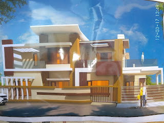 modern house design by dhiman construction work
