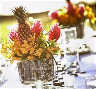Deborah  Ernests Wedding Day The Theme Tropical Citrus