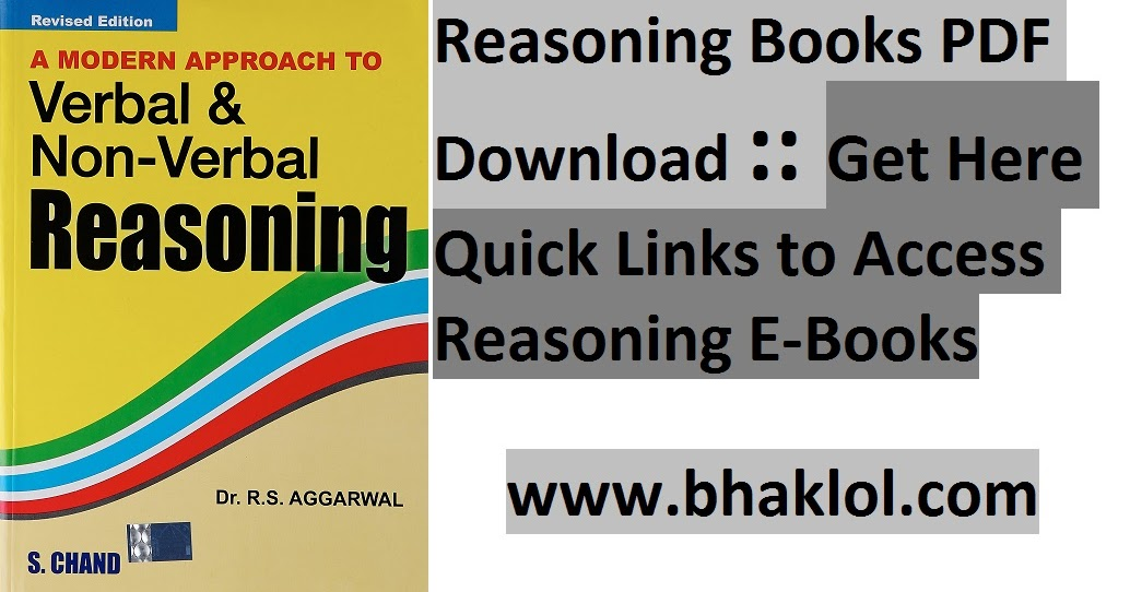 Reasoning Books Pdf Download Get Here Quick Links To Access