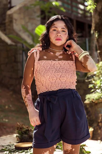 Receita: Top de Crochê com Linha Liza Moda