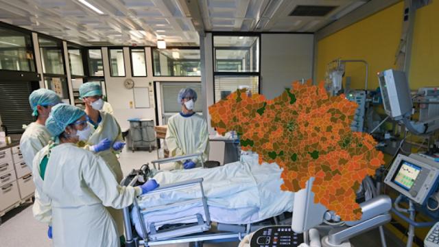 يستمر تراجع فيروس كورونا في بلجيكا ، ولكن هل هذا هو الحال أيضًا فيك؟ اكتشف الوضع المشترك حسب البلدية