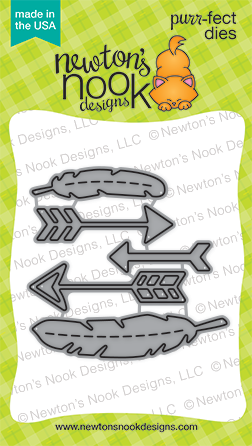 Points and Plumes purr-fect die set | Feathers and Arrows | Newton's Nook Designs #newtonsnook