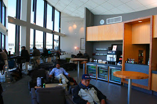 Business Class lounge at Seattle-Tacoma International Airport, used by ANA