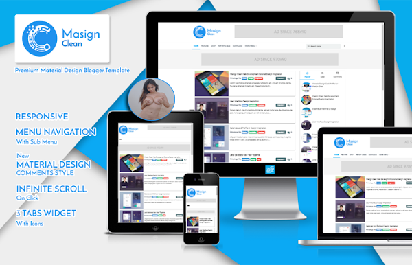 Masign Clean Pro v4.1 Disqus Responsive Blogger Template