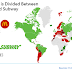 How the world is divided between McDonald's and Subway (Map)