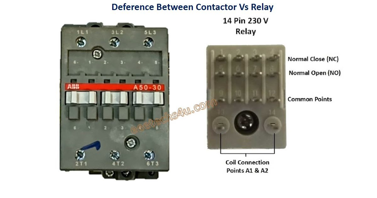Difference Between Contactors And Relays