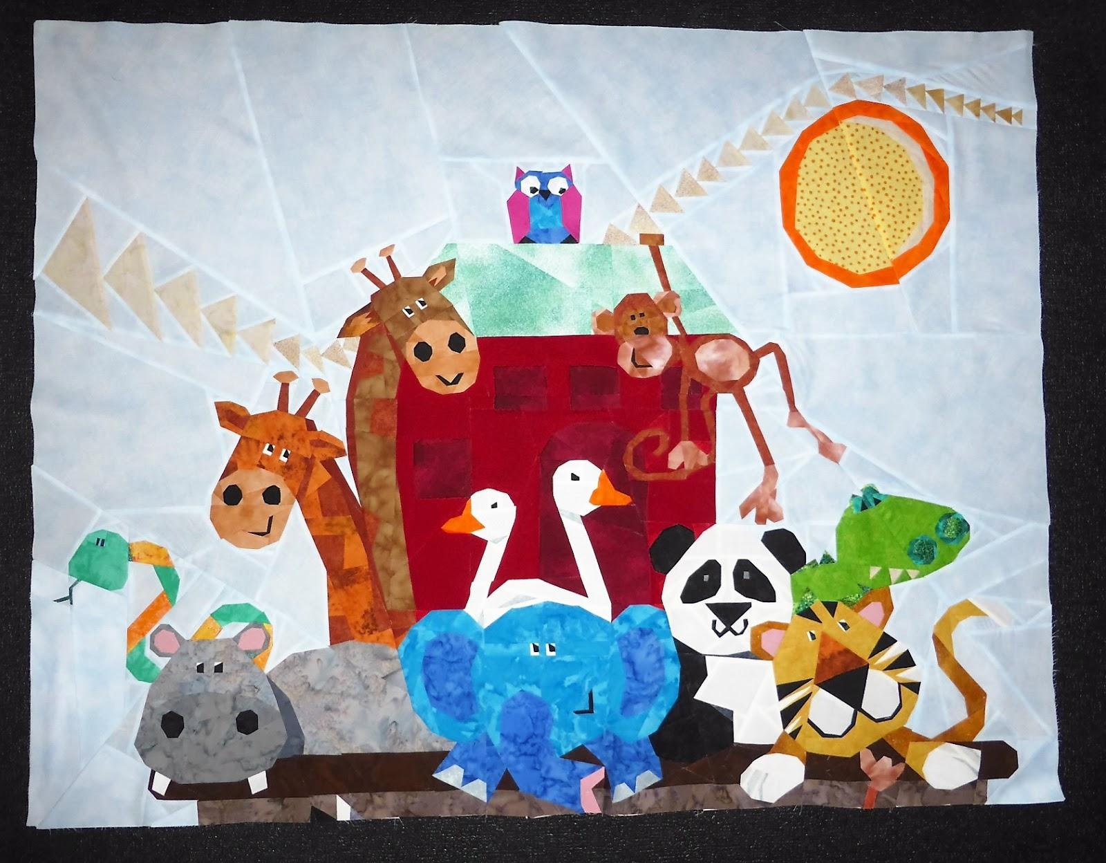 Quilt Art Designs: Start of our Noah's Ark Quilt A Long... : noahs ark quilt - Adamdwight.com
