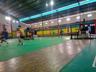 Peringkat 1 dan 2 liga Sepaktakraw putaran pertama di Semarang