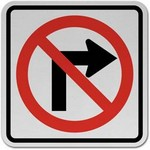 no right turn in spanish