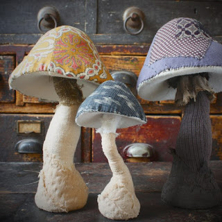 funghi di stoffa