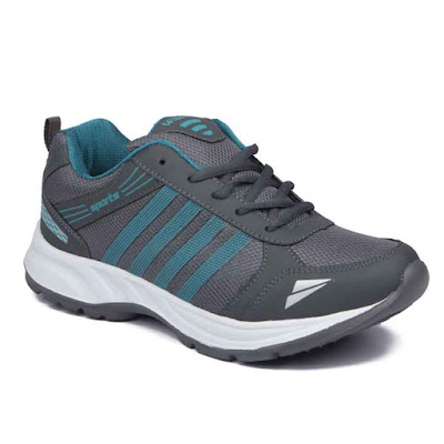 ASIAN Shoes Wonder-13 Grey Firozi Mesh Running Shoes