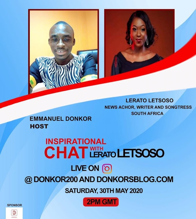 #InspirationalChat with South African news anchor, writer and songstress, Lerato Charlotte Letsoso. #BeInspired!