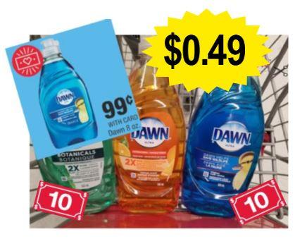 Dawn Dish Soap CVS Deal $0.49 12/8-12/14