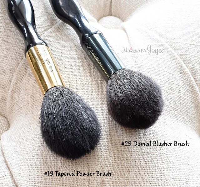 Sonia Kashuk Tapered Powder Brush #19 Comparison Review vs Domed Blusher #29