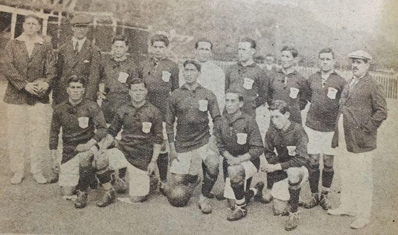 Formación de Chile ante Brasil, Campeonato Sudamericano 1920, 11 de septiembre