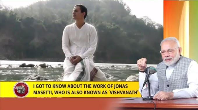 Internacional: Primeiro Ministro da India Sr. Narendra Modi fala sobre Sr. Jonas Masetti, Professor da Vedanta do Brasil
