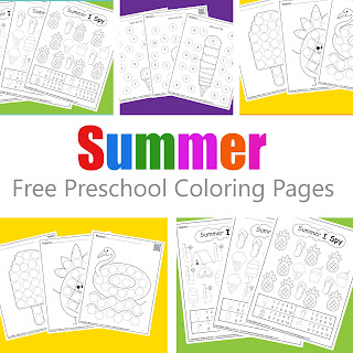 Summer Activities for kids :: Summer dot markers , ice cream spot and dot and I spy game