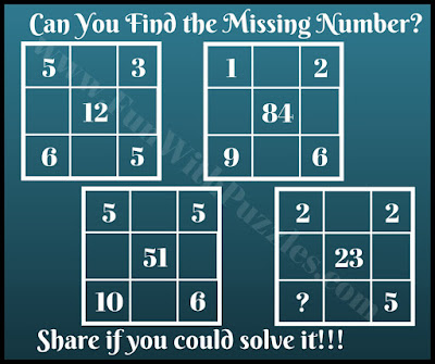 Challenging math mind teaser picture puzzle