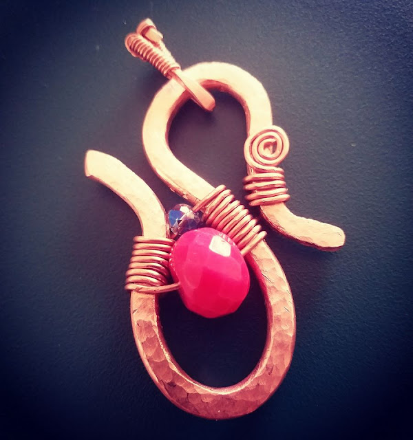 Copper Pendants, Copper Jewelry, Wire Wrapped Jewellery