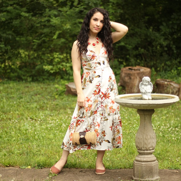 Dresswel Floral Midi Dress