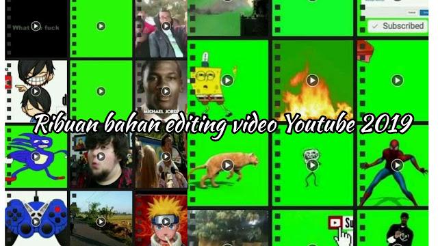 bahan mentahan edit video youtube lucu