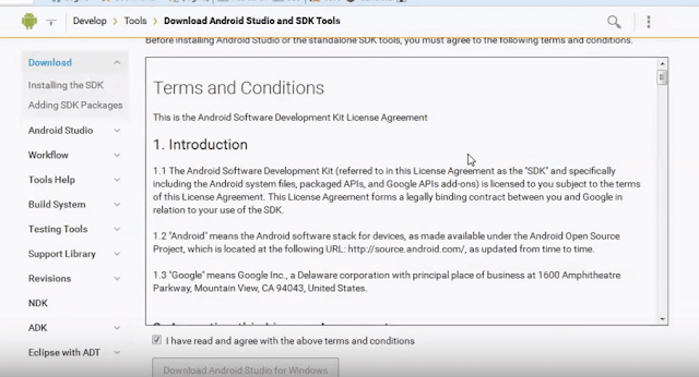 accept license agreement in Android Studio to download 2.3.3 version