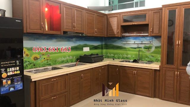 Mẫu tủ bếp nhôm Omega đẹp