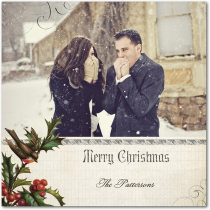 Christmas Flat Card with Picture