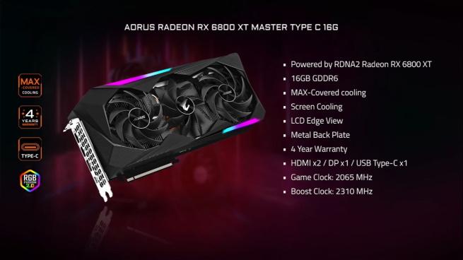 Gigabyte  RX 6800 (XT) AORUS Master C 16GB