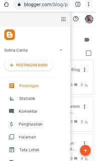 Cara menambah postingan blog