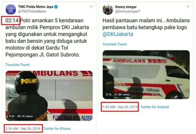 Polisi Dalami Twit Hoaks Denny Siregar Soal Ambulans Bawa Batu