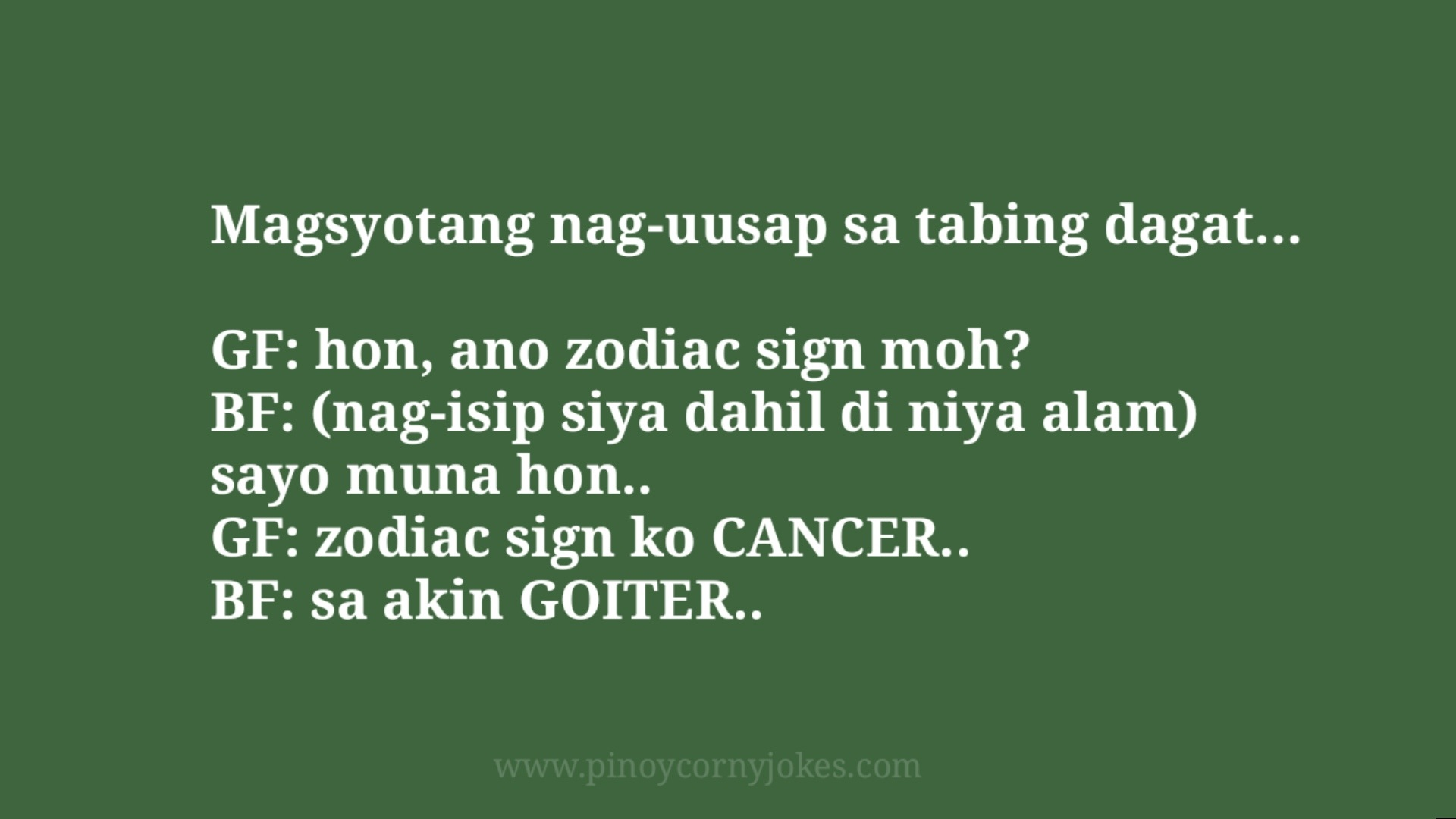 tabing dagat tagalog jokes mag bf gf