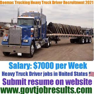 Beemac Trucking CDLA Truck Driver Recruitment 2021-22