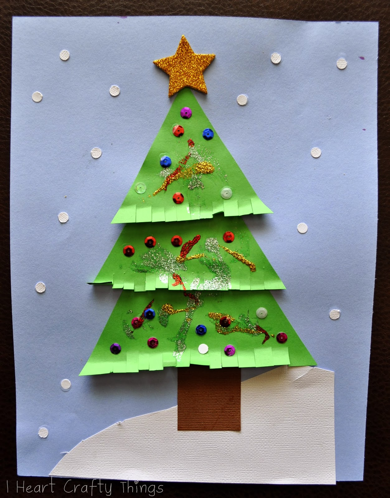 Triangle Christmas Tree Craft Pinterest