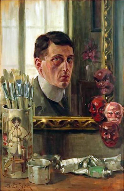 Branko Šenoa, Self Portrait, Portraits of Painters, Fine arts, Portraits of painters blog, Paintings of Branko Šenoa, Painter Branko Šenoa