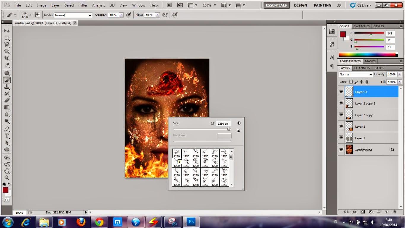 Membuat Efek asap dengan Photoshop