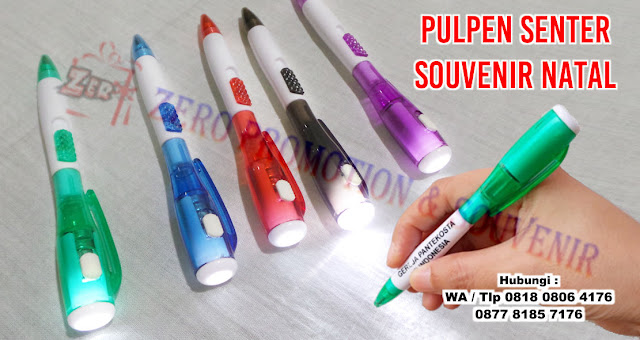 Souvenir Pulpen Senter, Pen Senter Led, pulpen lampu, pulpen multifungsi, souvenir pen 2in1