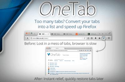 تسريع-فايرفوكس-عبر-إضافة-OneTab