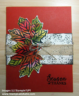 Fall cards made with the leaves from Stampin'UP!'s Gather Together stamp set and Gathered Leaves dies