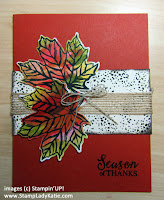 Fall Card made with Stampin'UP!'s Gather Together Stamp set and Gathered Leaves Dies
