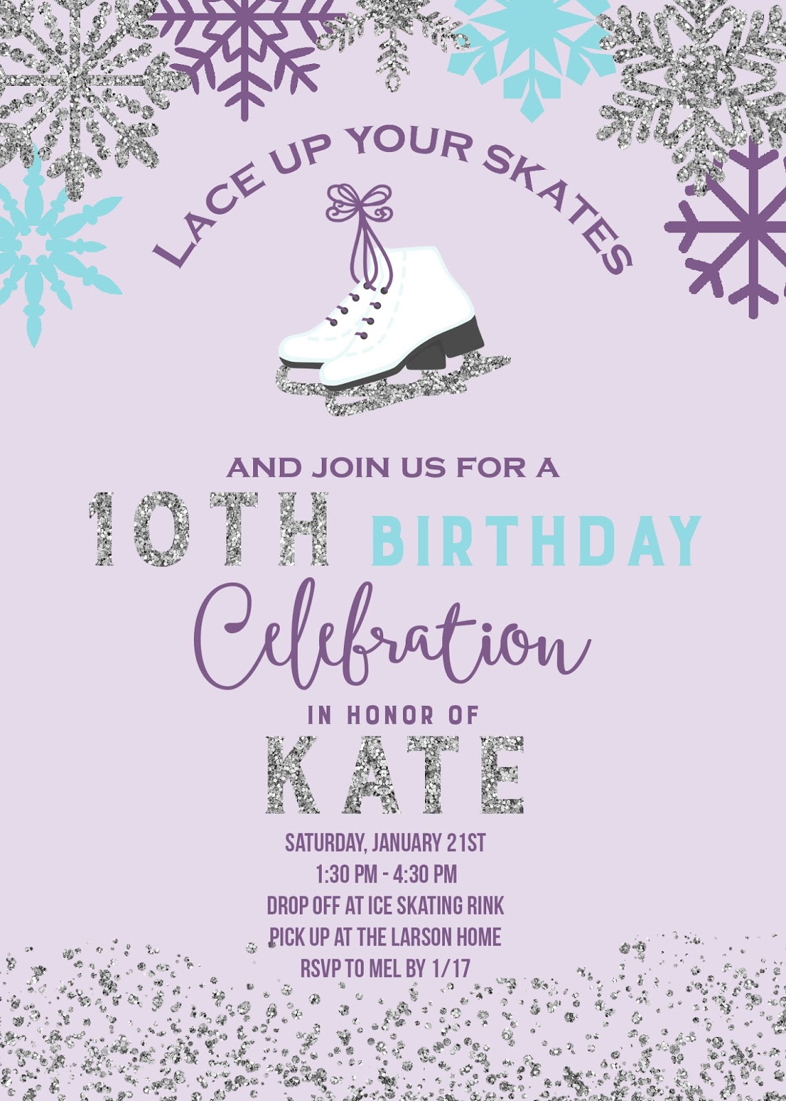 The Larson Lingo: Kate\'s Ice Skating Party