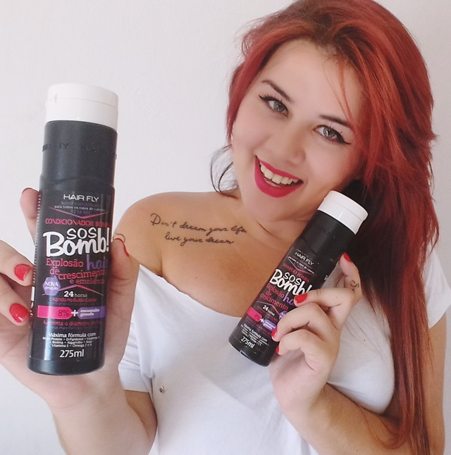 Shampoo e condicionador SOS BOMB hair fly, sindicato de beleza, resenha ,Ruiva, Phany Pinheiro, cabelos ruivos, como cuidar, shampoo, condicionador, blog de beleza, plussize, modelo brasileira,