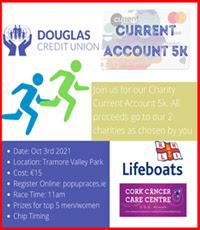 Douglas CU 5k in Cork City - Sun 3rd Oct 2021