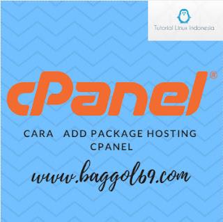 Cara  Membuat  Package Hosting  Di  WHM  Cpanel