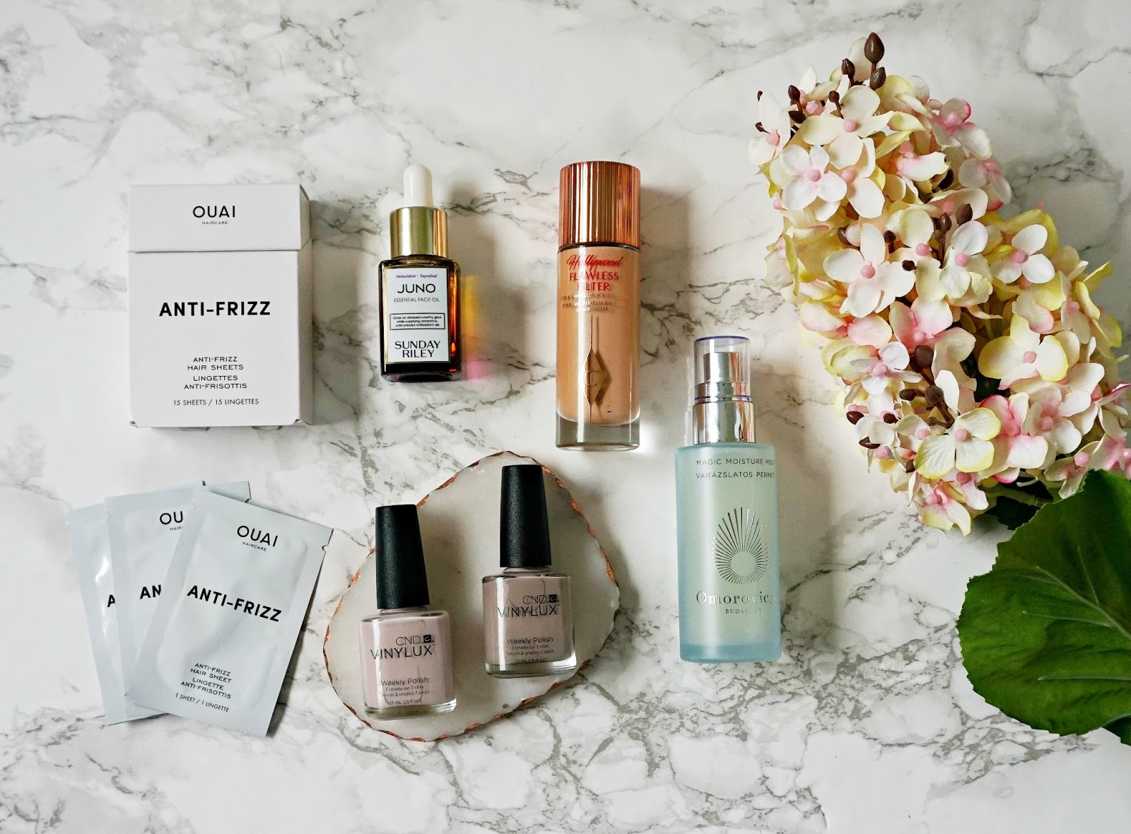 Ouai Frizz Sheet Review, Charlotte Tilbury Flawless Filter Review, Sunday Riley Juno Review, Omorovicza Magic Moisture Mist review