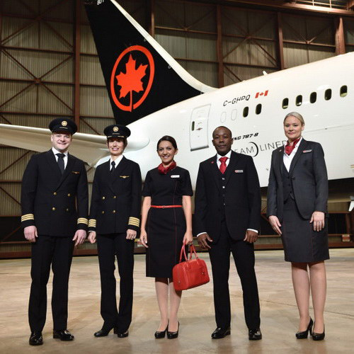 Tinuku Winkreative designed Air Canada livery in new red maple leaf logo and black dominance in fin and bottom
