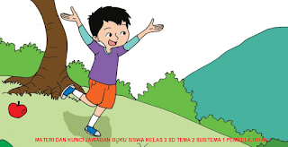 MATERI DAN KUNCI JAWABAN BUKU SISWA KELAS 3 SD TEMA 2 SUBTEMA 1 PEMBELAJARAN 1