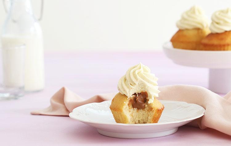 Recette des cupcakes vanille et praliné